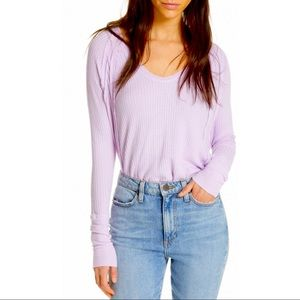 Free People Lavender Catalina Thermal Tunic Top